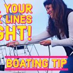 Pulling Boat Dock Lines Right